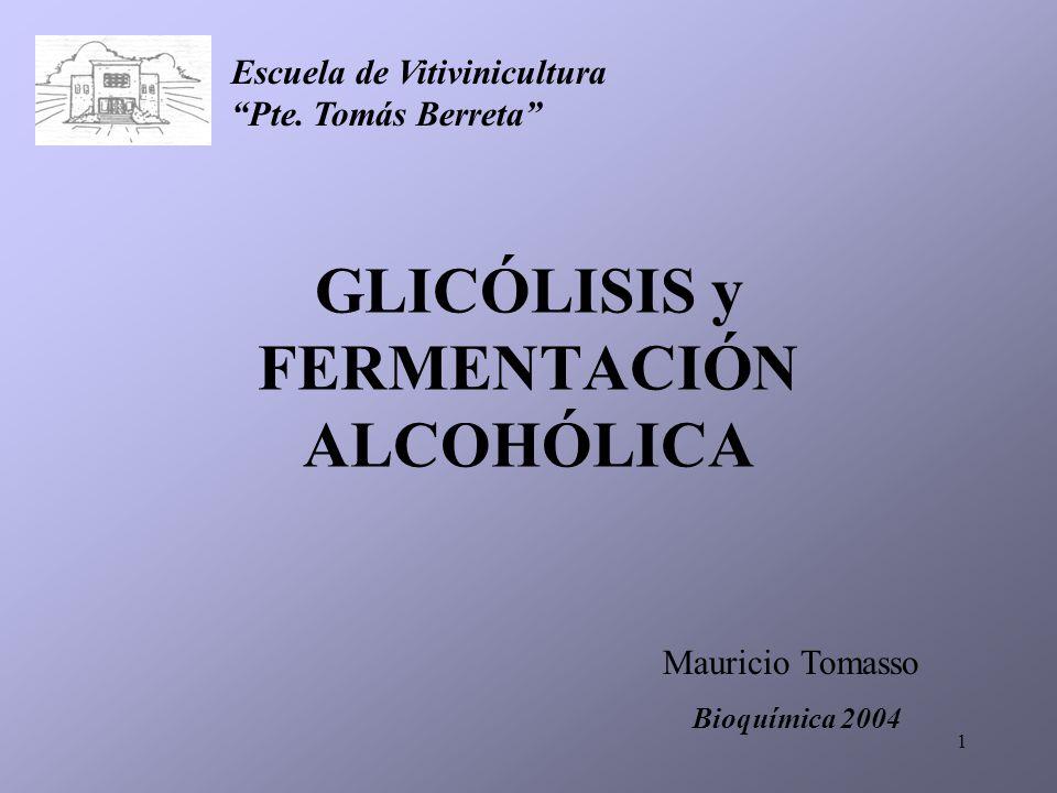 GLICÓLISIS y FERMENTACIÓN ALCOHÓLICA