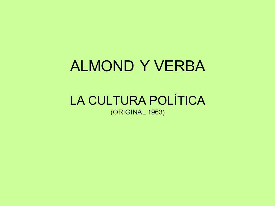 ALMOND Y VERBA LA CULTURA POLÍTICA (ORIGINAL 1963)