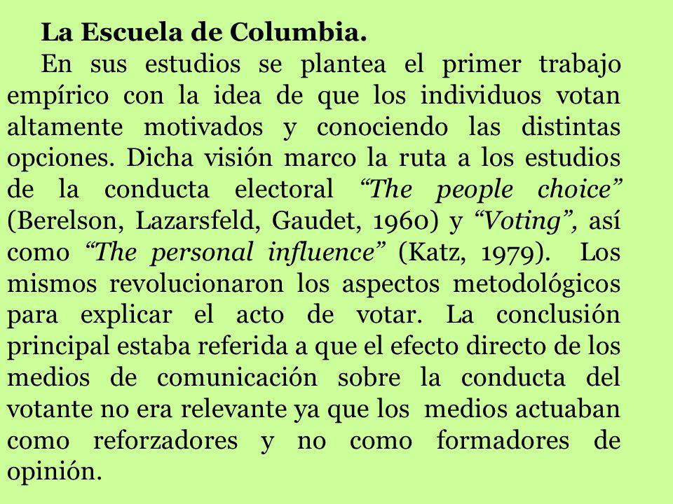 La Escuela de Columbia.