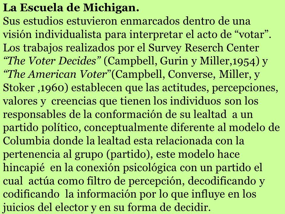 La Escuela de Michigan.