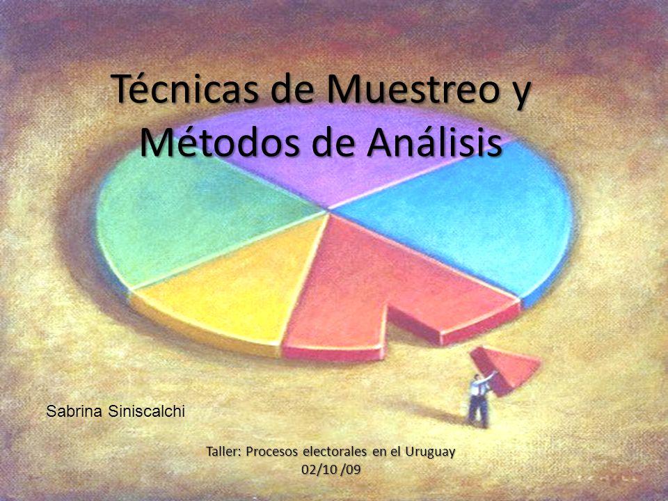 Técnicas de Muestreo y Métodos de Análisis