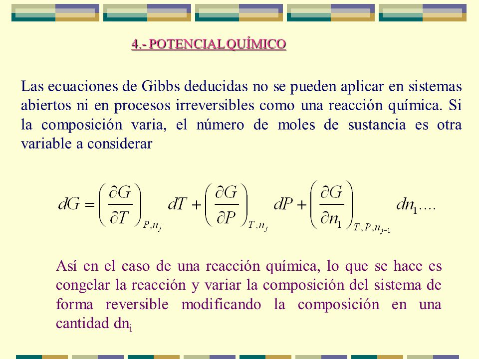 4.- POTENCIAL QUÍMICO