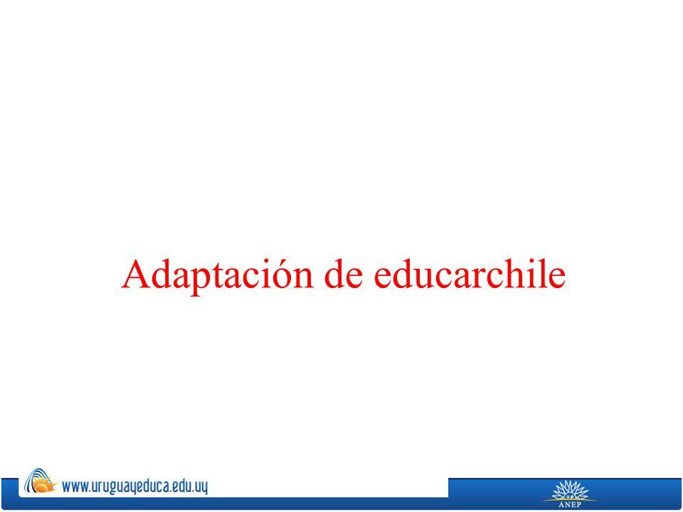 Adaptación de educarchile