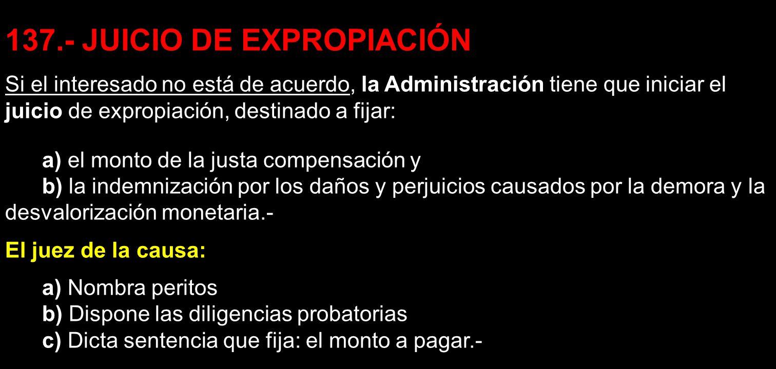 137.- JUICIO DE EXPROPIACIÓN
