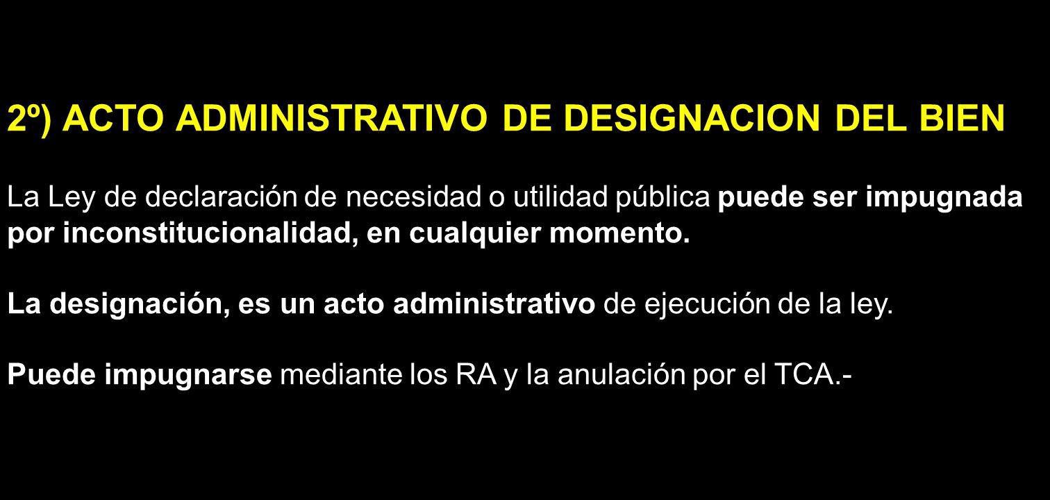 2º) ACTO ADMINISTRATIVO DE DESIGNACION DEL BIEN