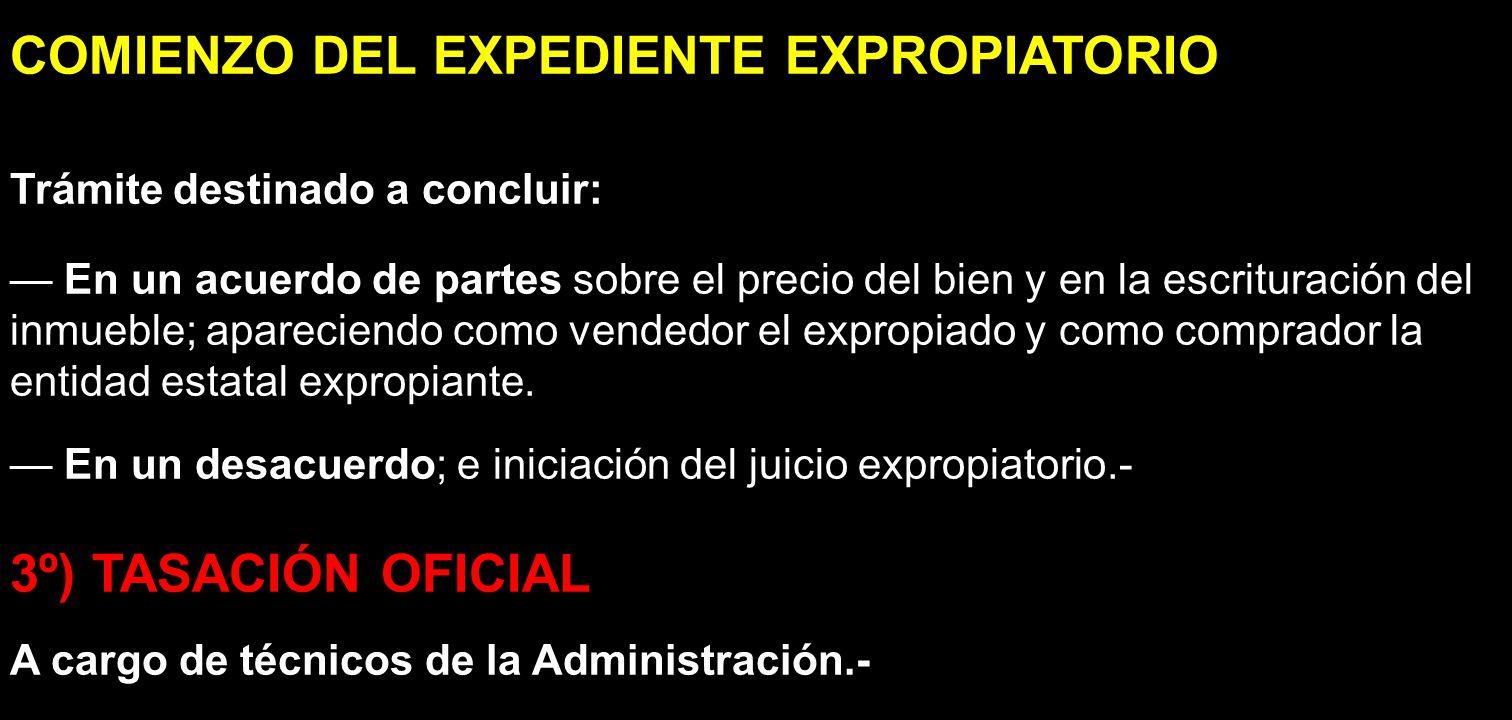 COMIENZO DEL EXPEDIENTE EXPROPIATORIO