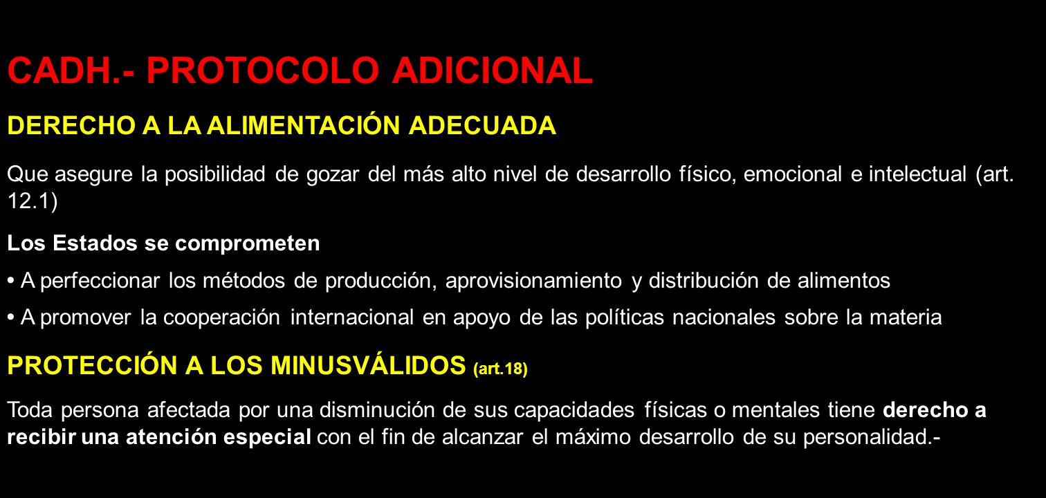 CADH.- PROTOCOLO ADICIONAL