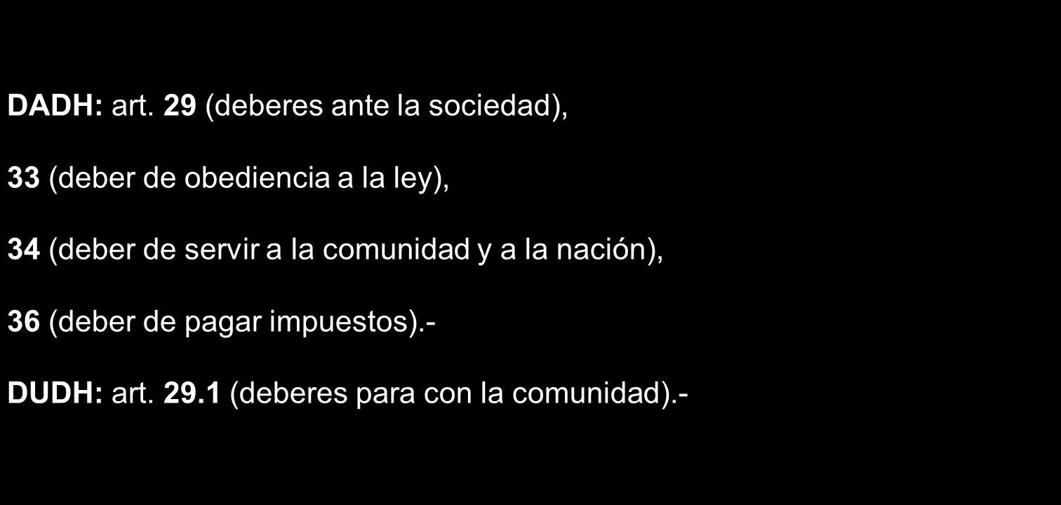 DADH: art. 29 (deberes ante la sociedad),