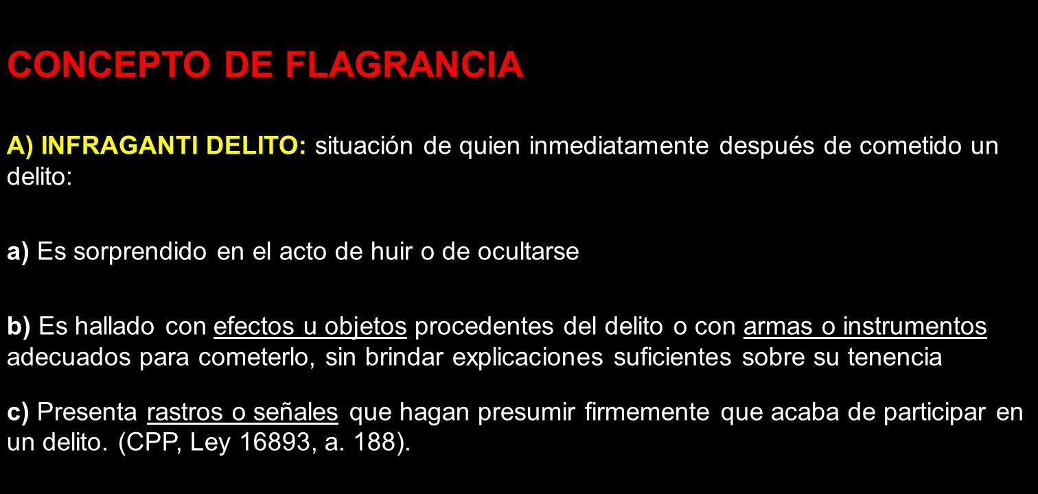 CONCEPTO DE FLAGRANCIA