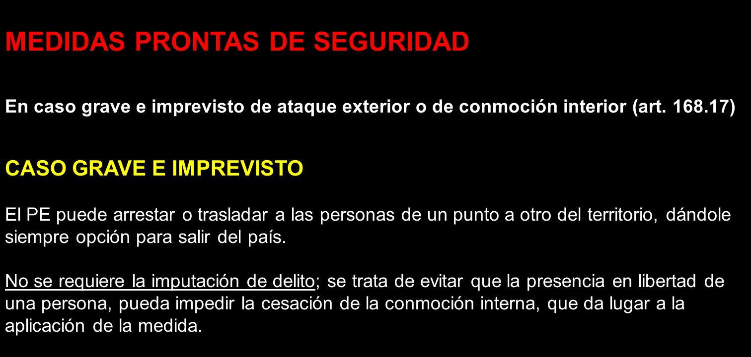 MEDIDAS PRONTAS DE SEGURIDAD