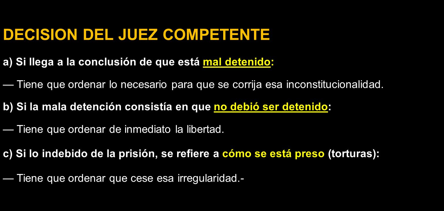 DECISION DEL JUEZ COMPETENTE