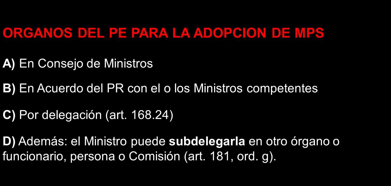 ORGANOS DEL PE PARA LA ADOPCION DE MPS