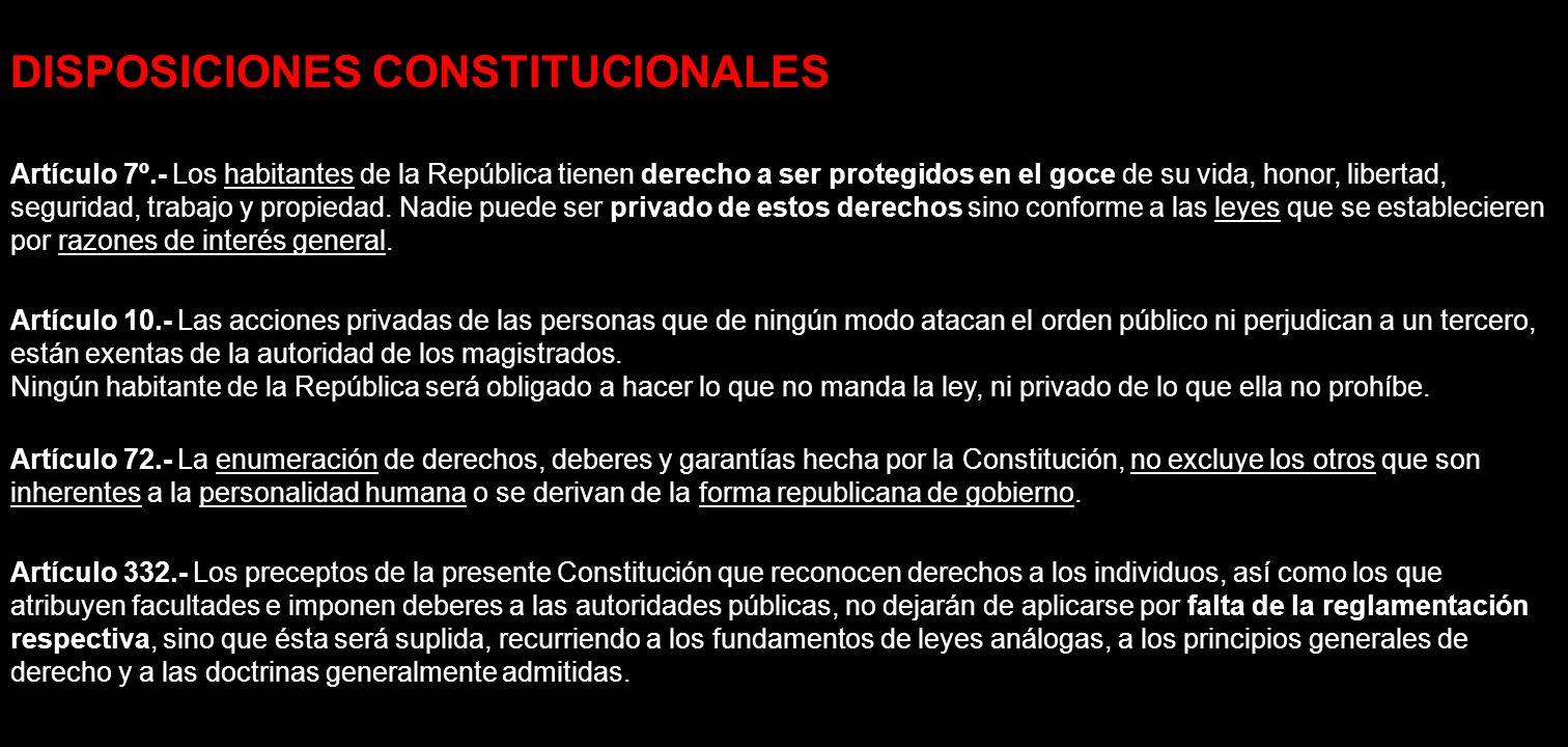 DISPOSICIONES CONSTITUCIONALES