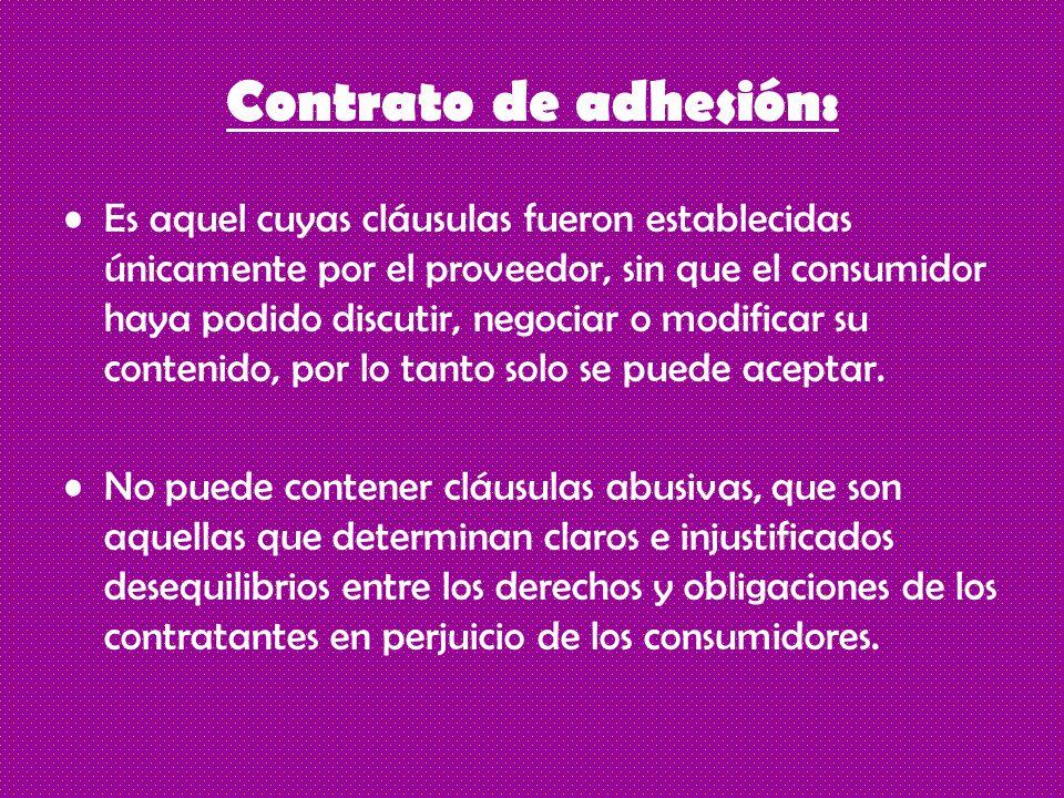 Contrato de adhesión: