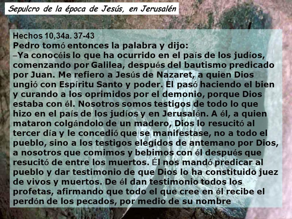 Sepulcro de la época de Jesús, en Jerusalén