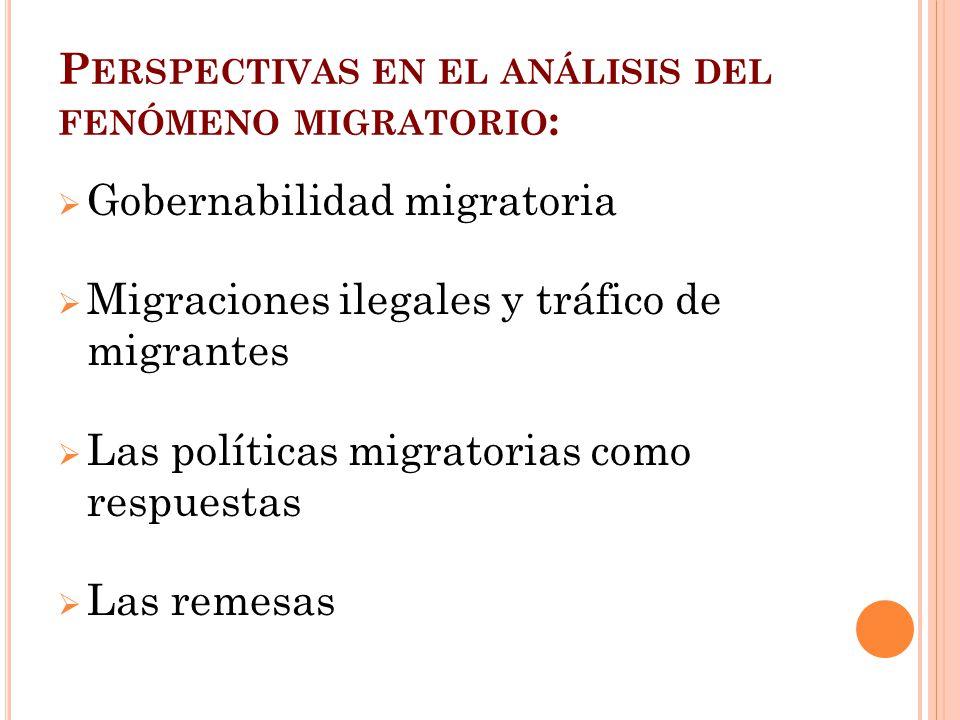 Perspectivas en el análisis del fenómeno migratorio: