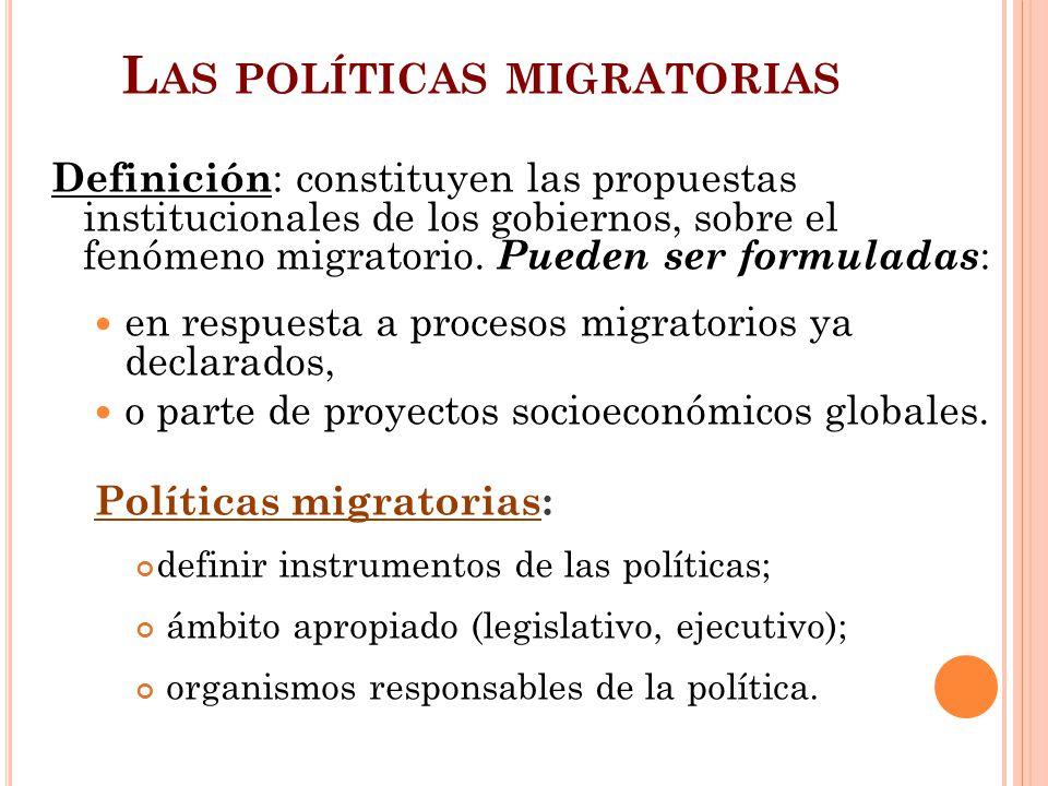 Las políticas migratorias