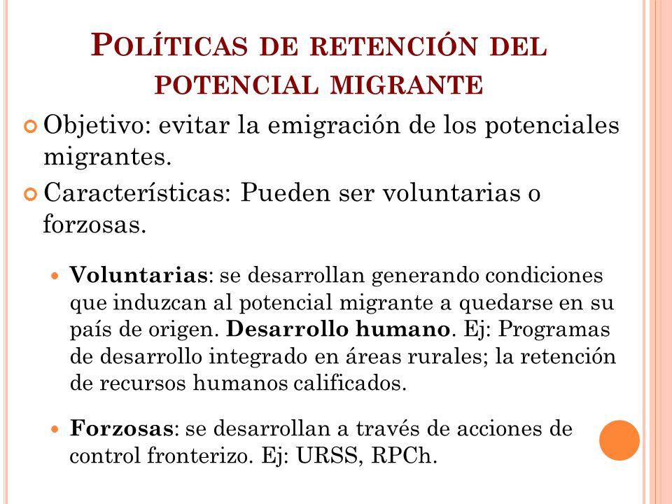 Políticas de retención del potencial migrante