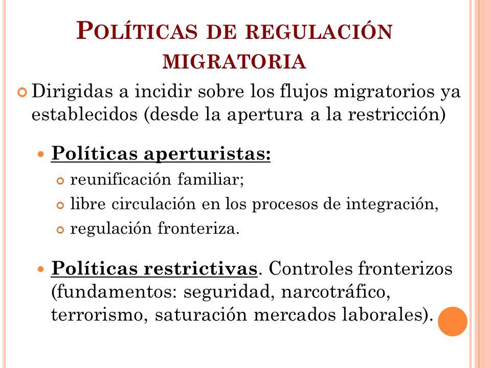 Políticas de regulación migratoria