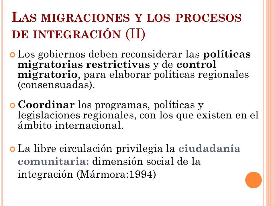 Las migraciones y los procesos de integración (II)