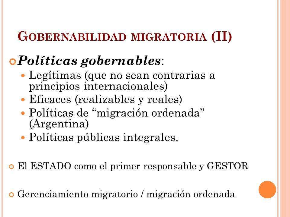 Gobernabilidad migratoria (II)