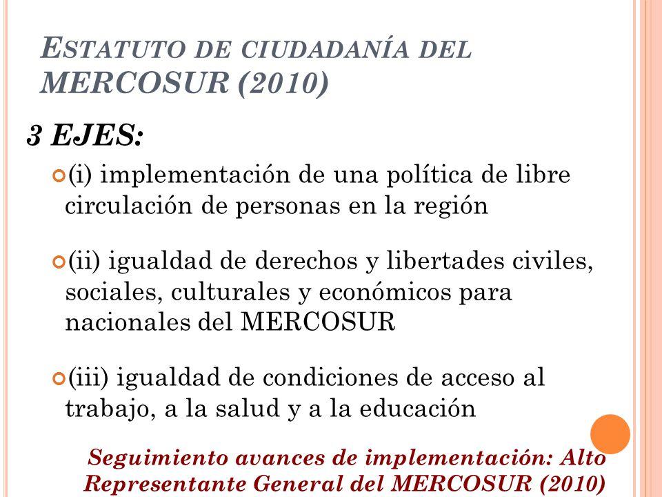 Estatuto de ciudadanía del MERCOSUR (2010)