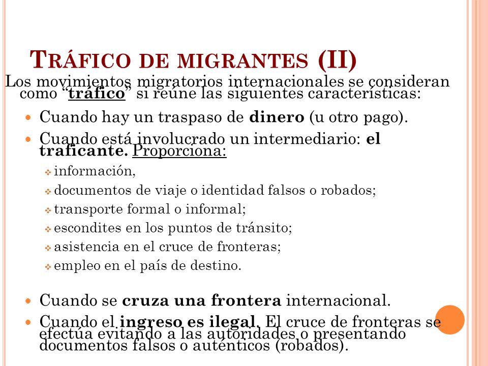 Tráfico de migrantes (II)