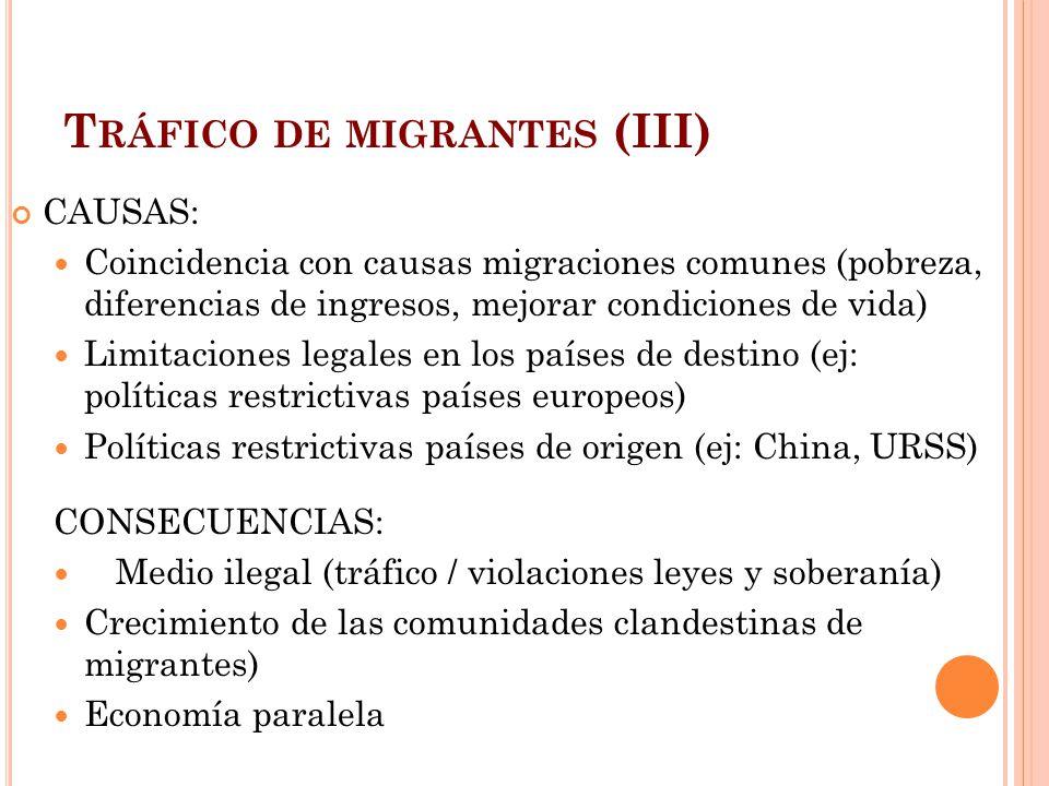 Tráfico de migrantes (III)