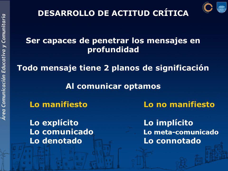 DESARROLLO DE ACTITUD CRÍTICA