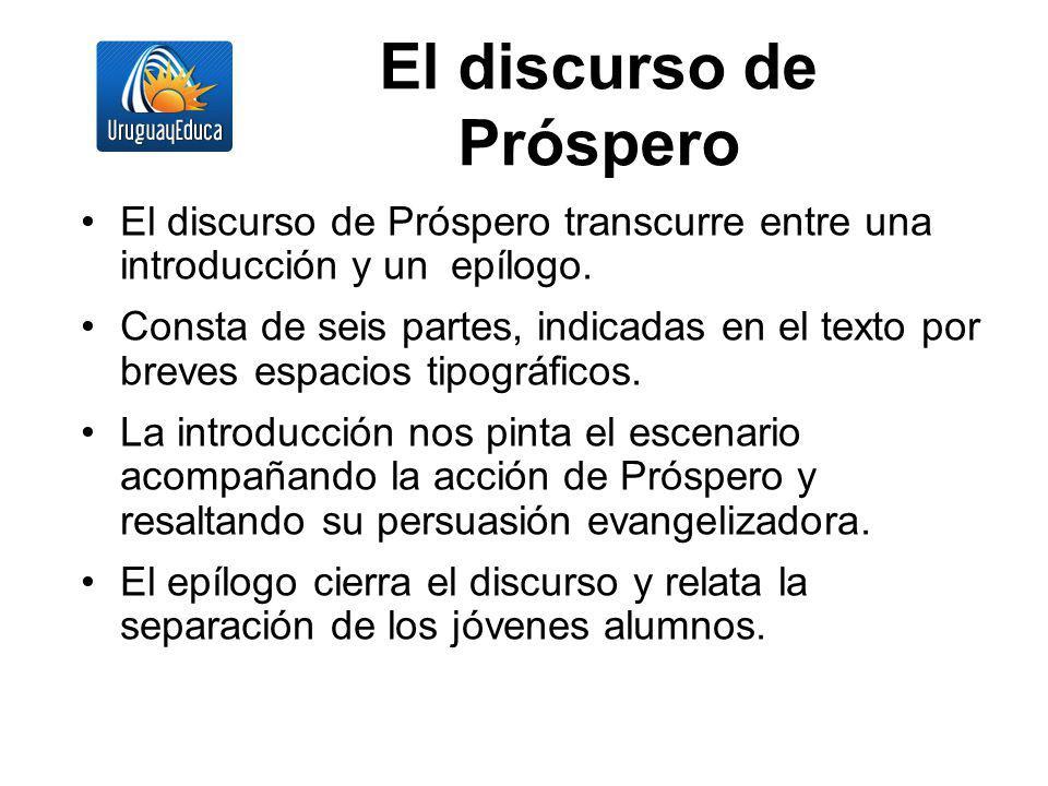 El discurso de Próspero