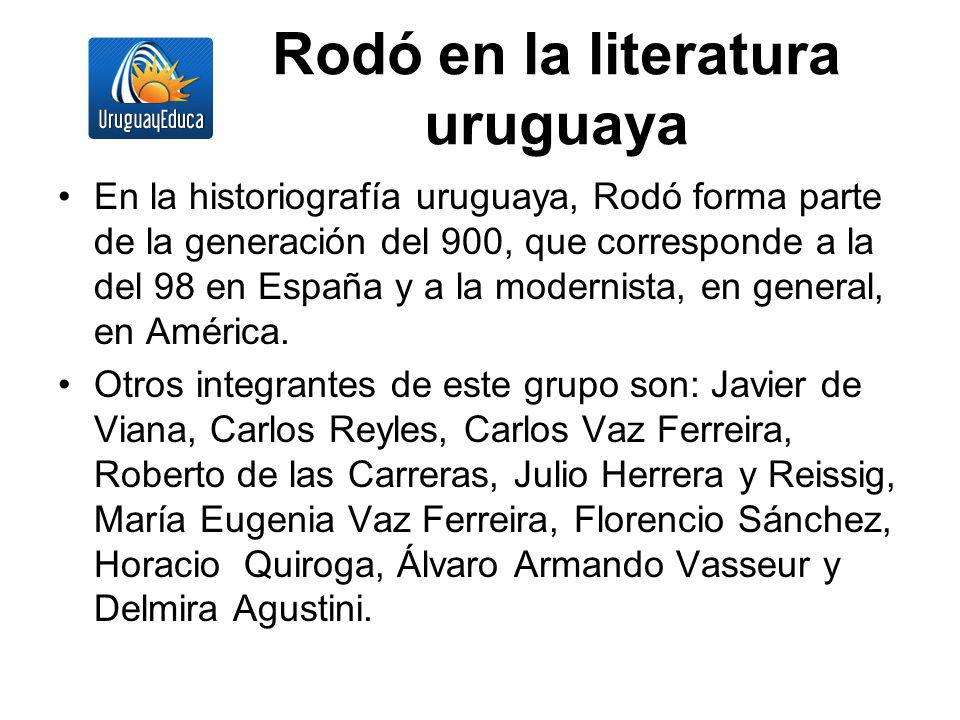 Rodó en la literatura uruguaya