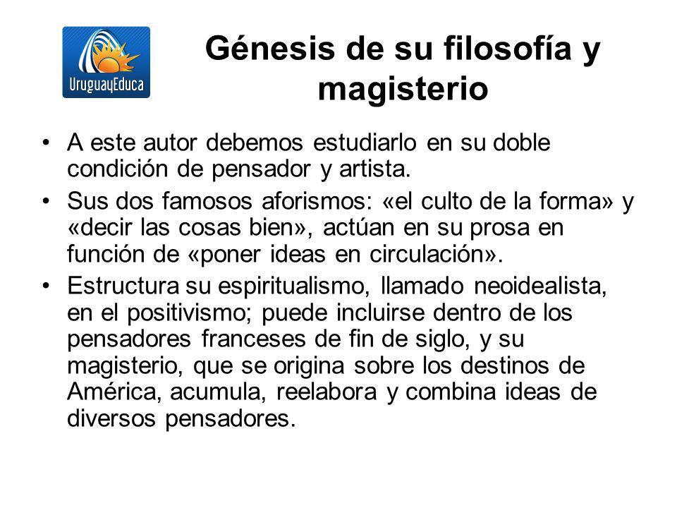 Génesis de su filosofía y magisterio