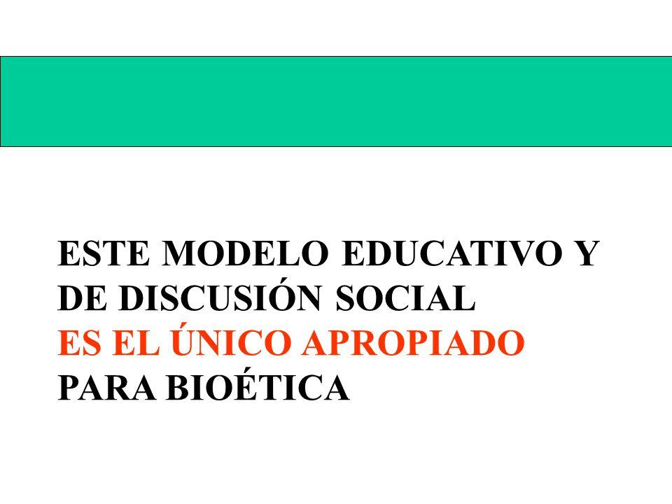 ESTE MODELO EDUCATIVO Y DE DISCUSIÓN SOCIAL