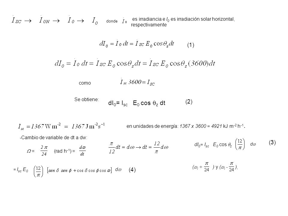 dI0= Isc E0 cos z dt (1) (2) (3) (4)