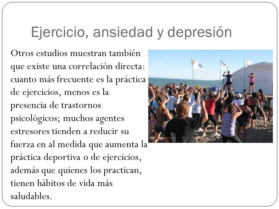 Ejercicio, ansiedad y depresión
