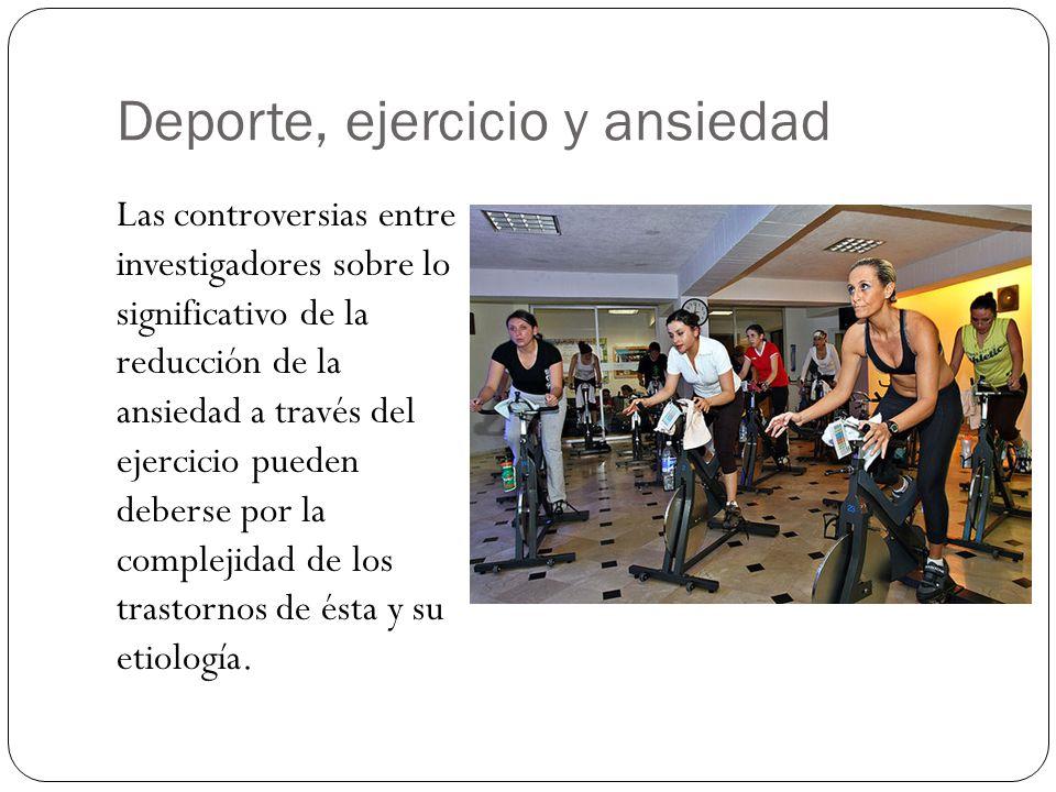 Deporte, ejercicio y ansiedad