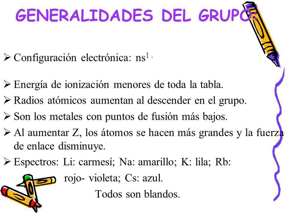 GENERALIDADES DEL GRUPO: