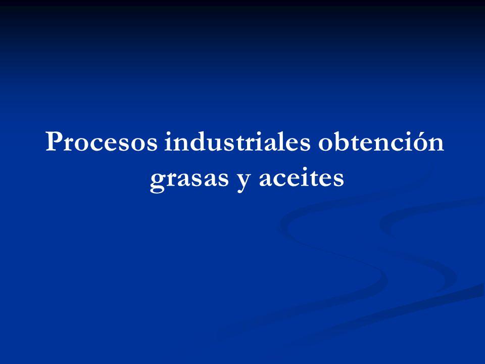 Procesos industriales obtención