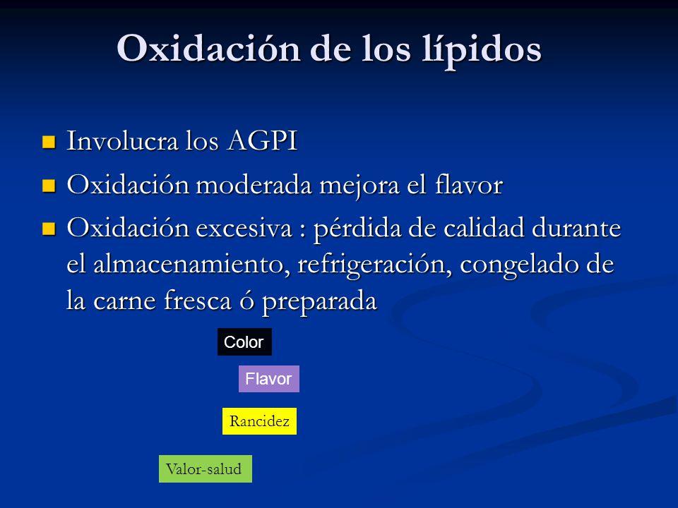Oxidación de los lípidos