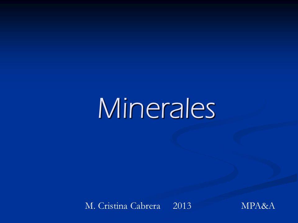 Minerales M. Cristina Cabrera 2013 MPA&A