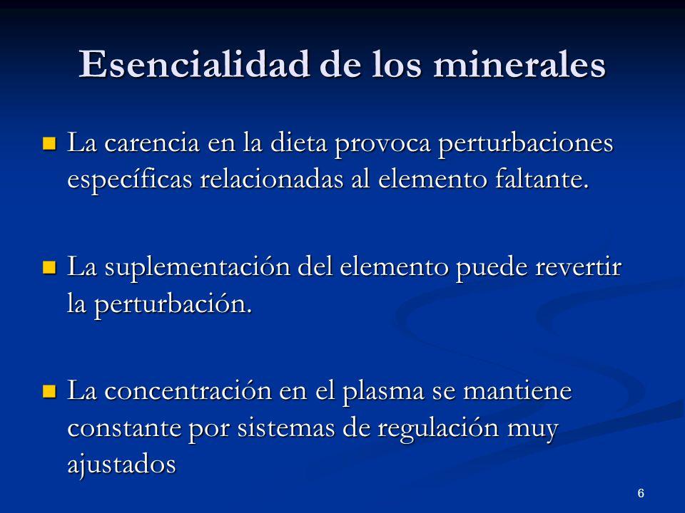 Esencialidad de los minerales