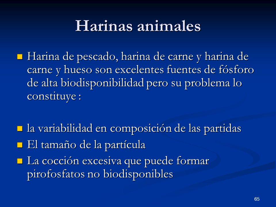 Harinas animales