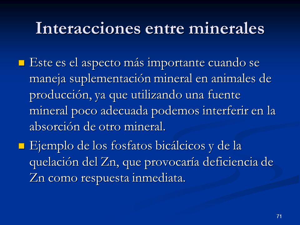 Interacciones entre minerales