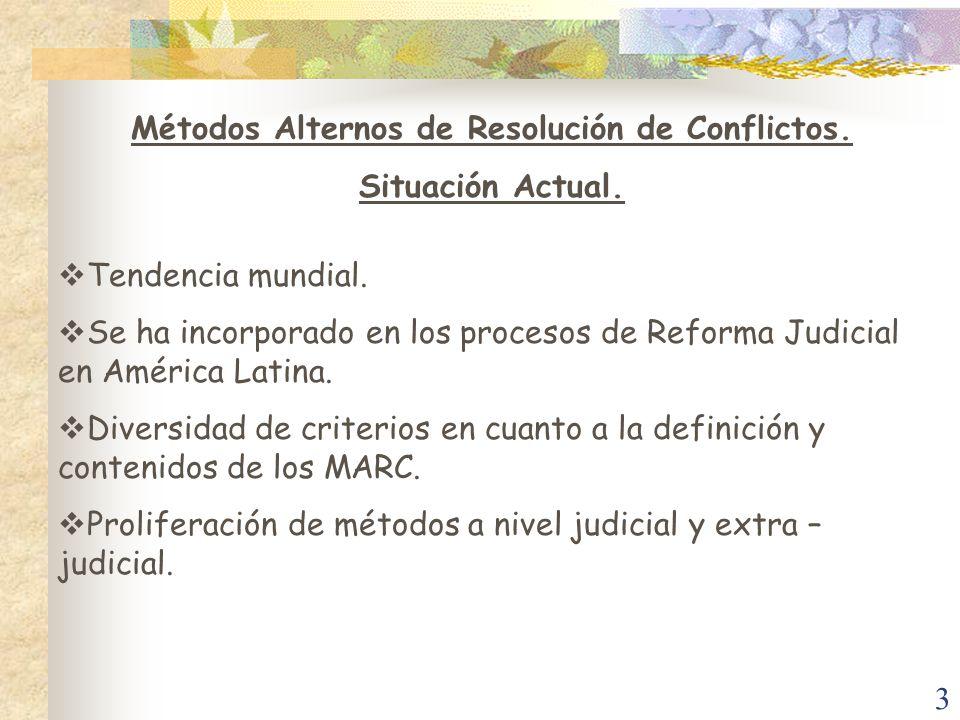 Métodos Alternos de Resolución de Conflictos.