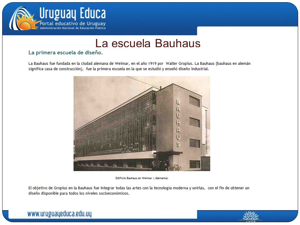 La escuela Bauhaus