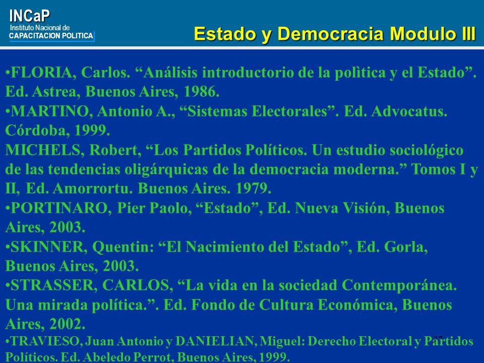 Estado y Democracia Modulo III