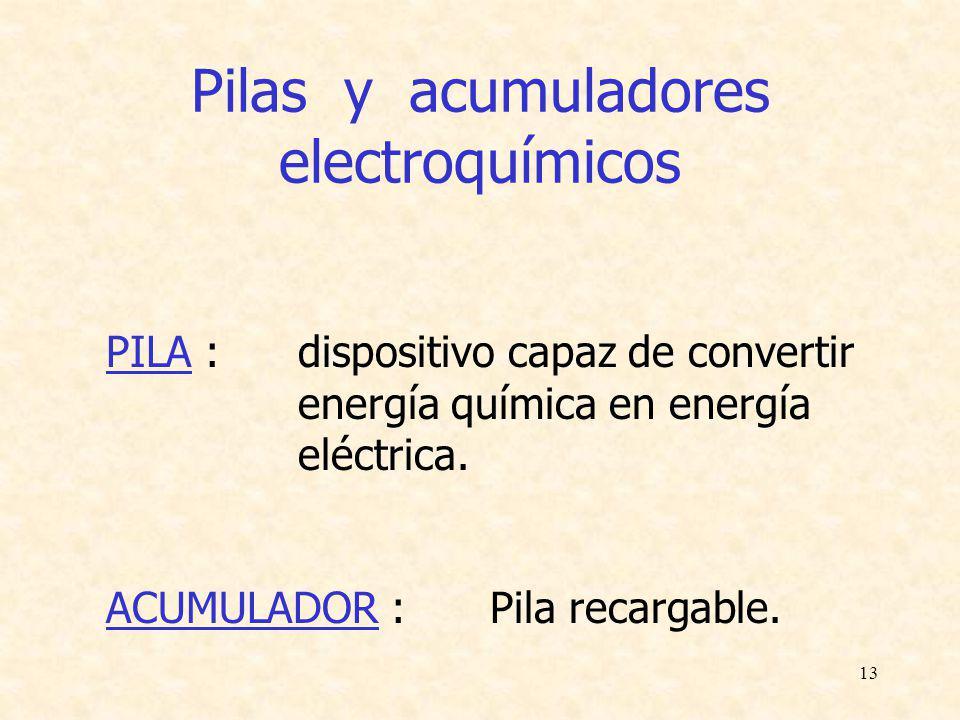 Pilas y acumuladores electroquímicos