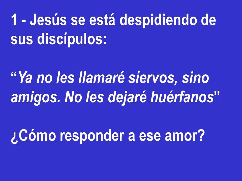 1 - Jesús se está despidiendo de sus discípulos: