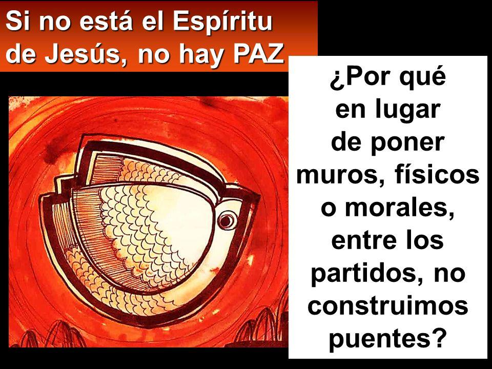 Si no está el Espíritu de Jesús, no hay PAZ
