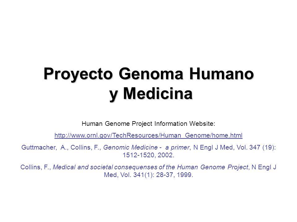 Proyecto Genoma Humano y Medicina